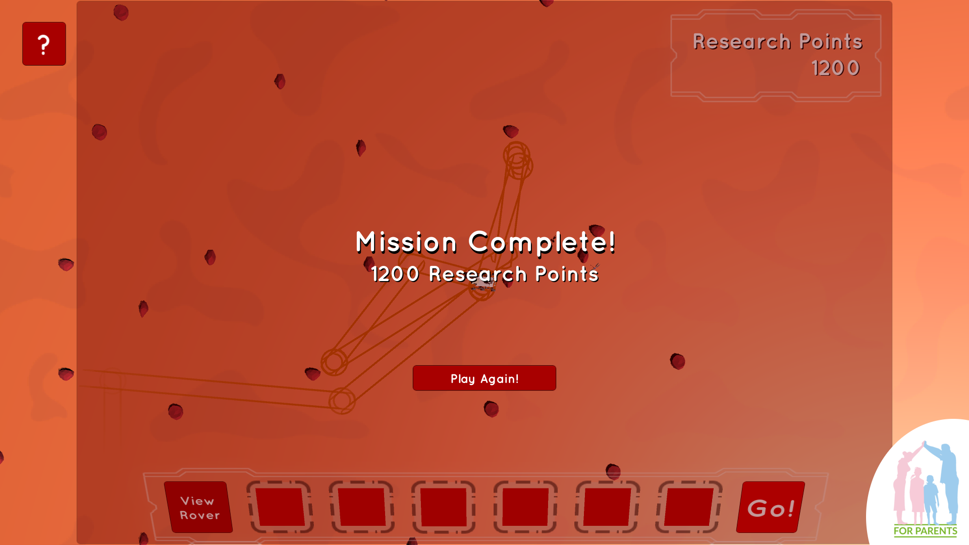 programowanie dla dzieci - łazik marsjański 20 misja zakończona