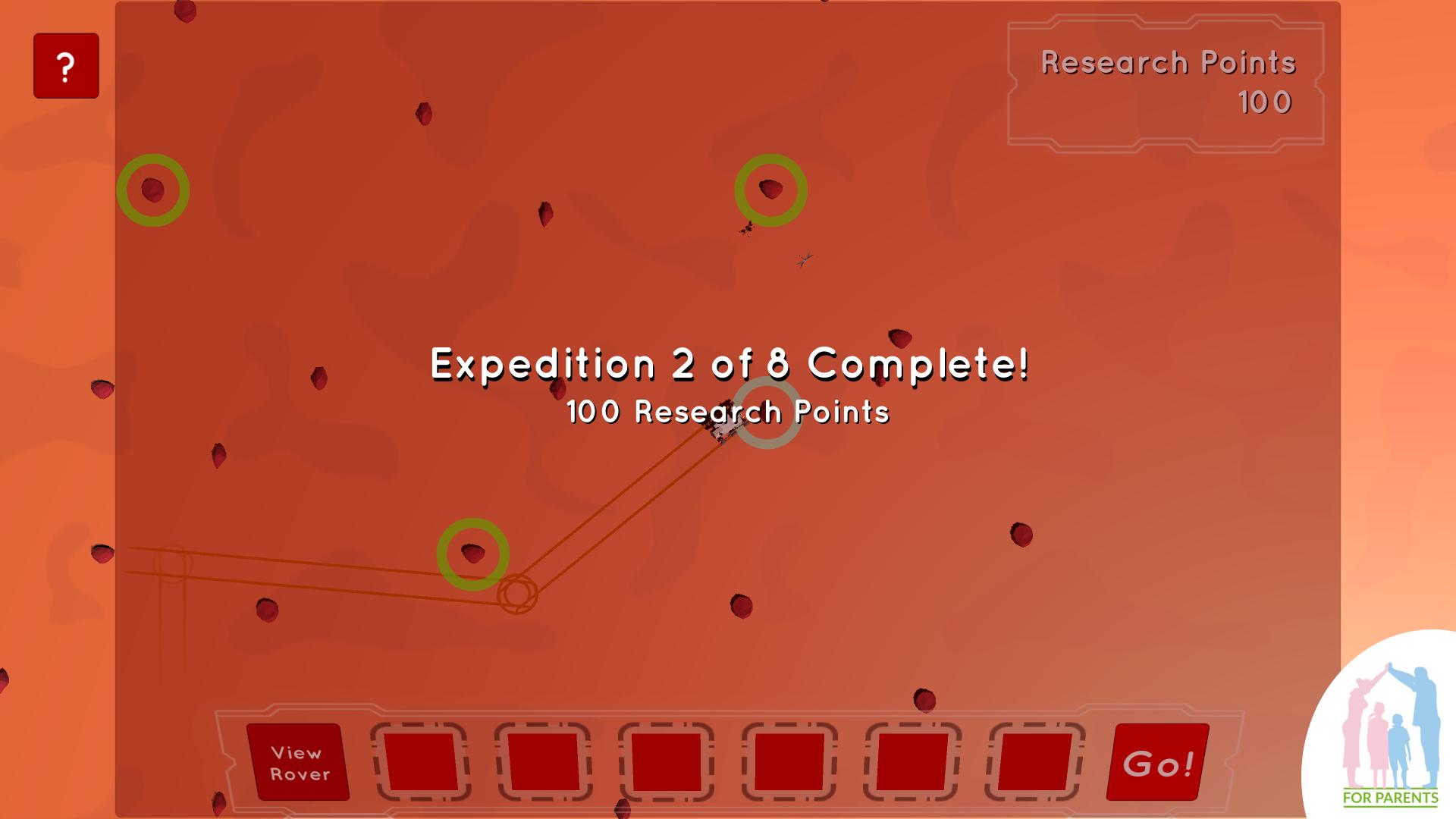 programowanie dla dzieci - łazik marsjański 6 ekran między ekspedycjami