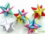 Origami Gwiadka Omega ⭐ proste, modułowe origami 🎨 Trudność_ ❤️❤️💙💙💙