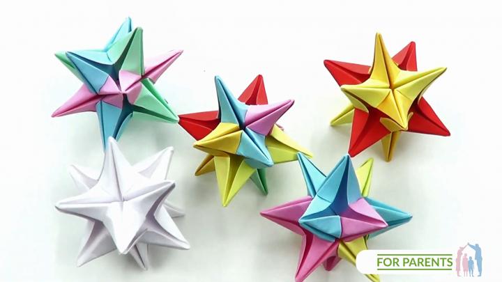 Origami Gwiadka Omega – proste origami modułowe