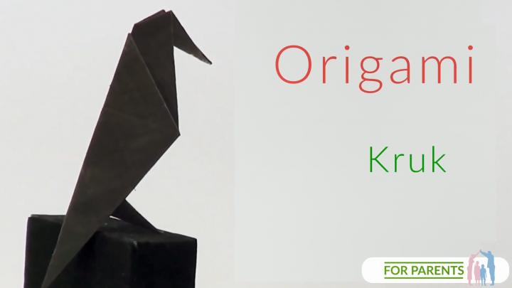 Origami kruk bez klejenia⭐ proste tradycyjne origami 🎨