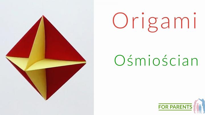 Origami ośmiocian 8️ proste origami modułowe 🎨
