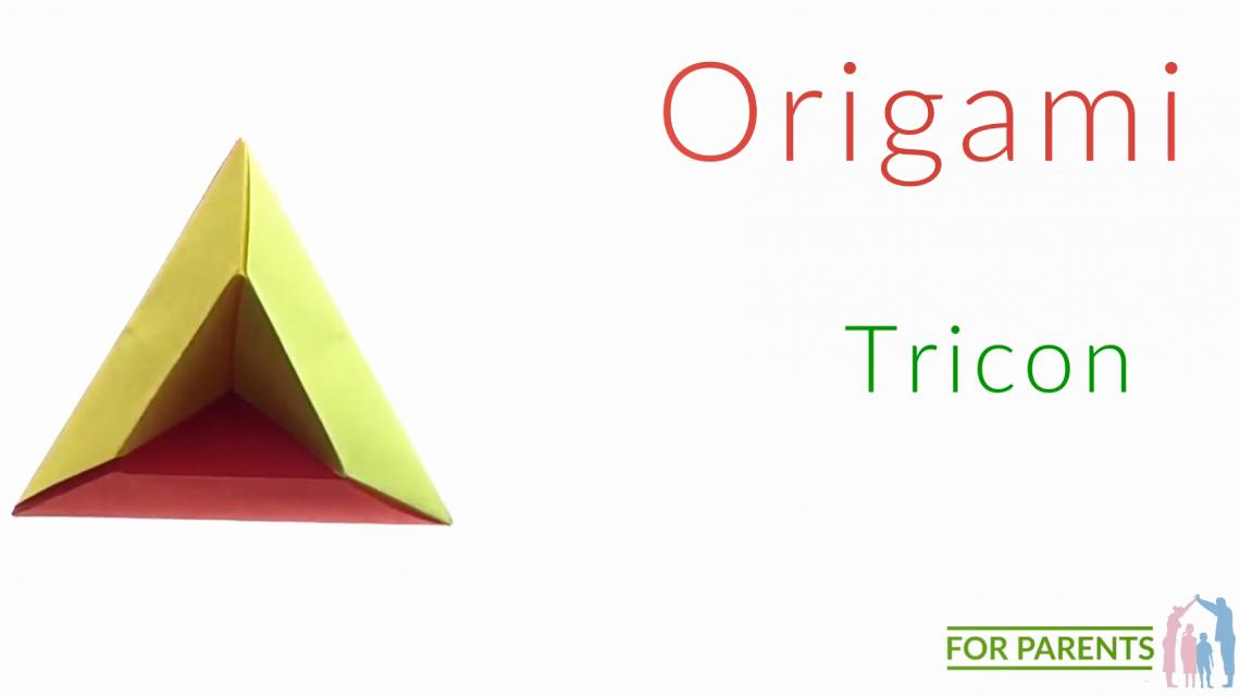 Origami Tricon🔺 proste origami modułowe