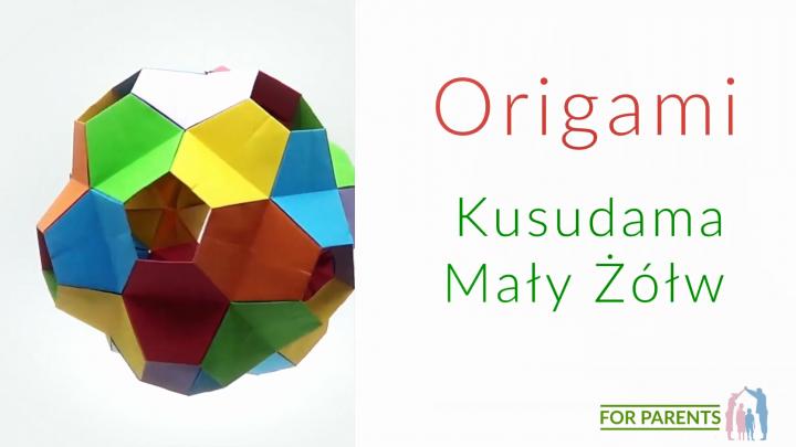 Origami Kusudama mały Żółw – średnie origami modułowe