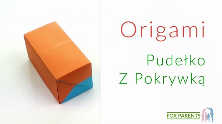 Origami prostokątne pudełko z pokrywką proste origami modułowe