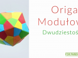 Origami Dwudziestościan średnie origami modułowe