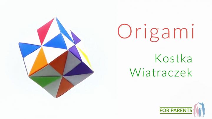 Origami Kostka wiatraczek proste origami modułowe