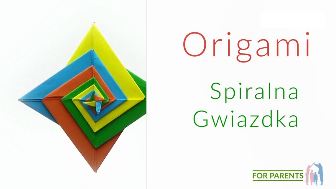 Origami Spiralna gwiazdka proste origami modułowe
